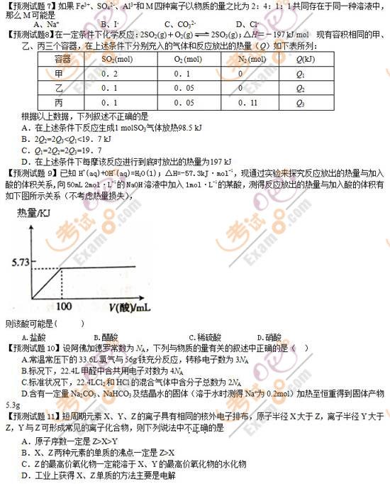 2009年高考最有可能考的20道数学文题(新课标卷)