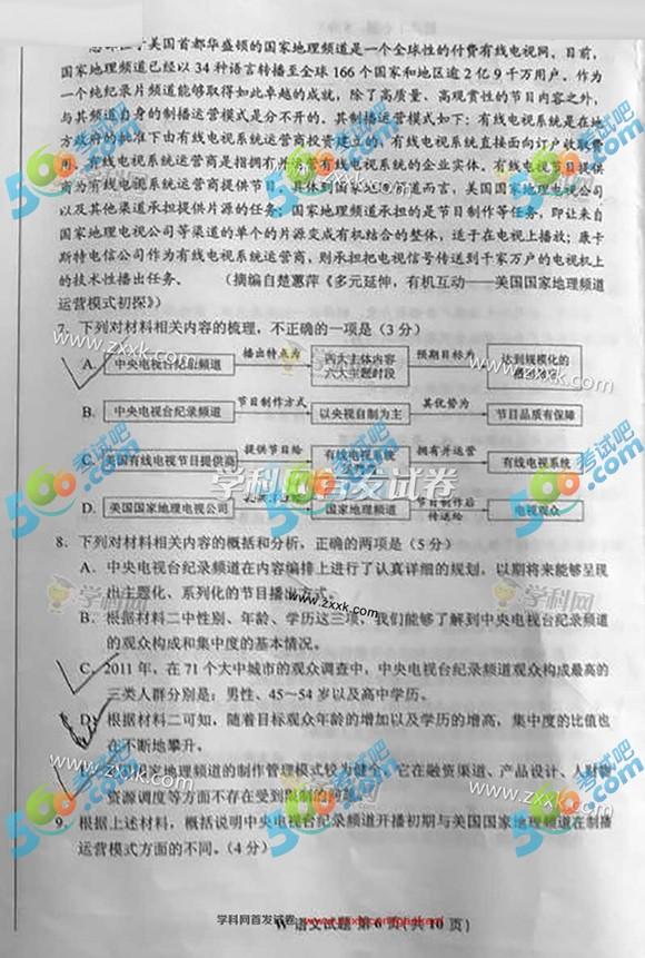 考试吧:2017年全国卷I高考语文试题(完整版)