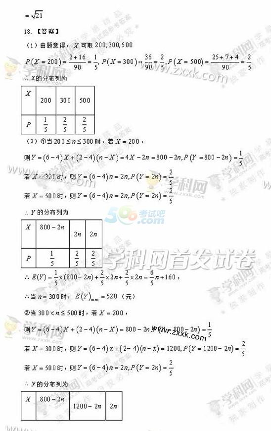 考试吧:2017年全国卷Ⅲ高考数学答案(理科完整版)