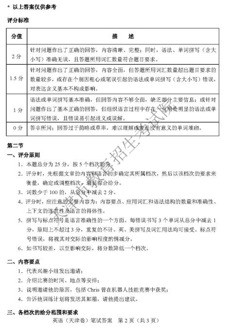 考试吧:2018年天津高考英语试题及答案