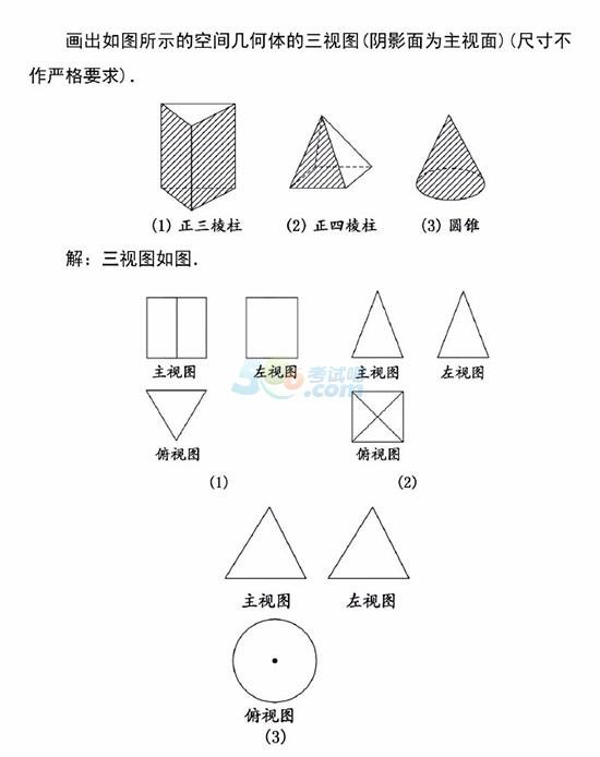 高一数学学习指导:三视图